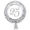 25th Anniversary - Anniversary Mylar Balloon