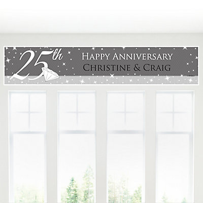 25th Anniversary - Personalized Wedding Anniversary Banner...