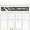 25th Anniversary - Personalized Wedding Anniversary Banner