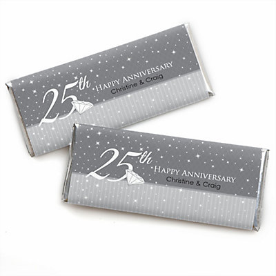 25th Anniversary - Personalized Wedding Anniversary Candy Ba...