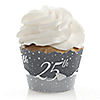 25th Anniversary - Wedding Anniversary Cupcake Wrappers