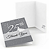 25th Anniversary - Wedding Anniversary Thank You Cards - 8 ct
