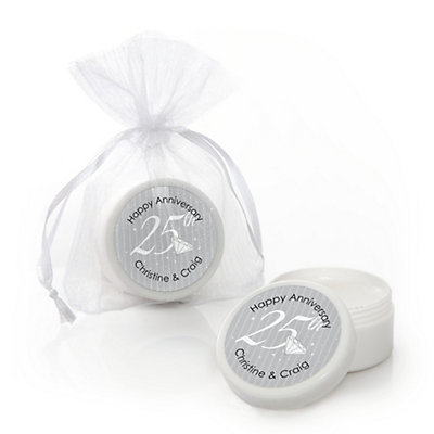 25th Anniversary - Personalized Wedding Anniversary Lip Balm...