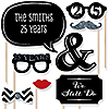 25th Anniversary - 20 Piece Photo Booth Props Kit