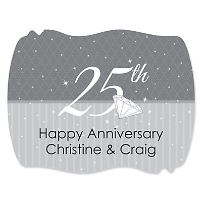 25th Anniversary - Personalized Wedding Anniversary Squiggle...