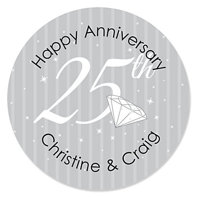 25th Anniversary - Personalized Wedding Anniversary Sticker ...