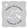 25th Anniversary  - Personalized Wedding Anniversary Tags - 20 ct