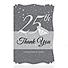 25th Anniversary - Personalized Wedding Anniversary Thank You Cards