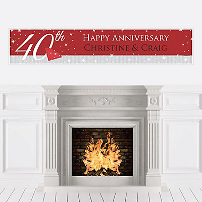 40th Anniversary - Personalized Wedding Anniversary Banner...