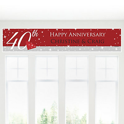 40th Anniversary - Personalized Wedding Anniversary Banner