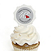 40th Anniversary - Personalized Wedding Anniversary Cupcake Pick and Sticker Kit -  12 ct