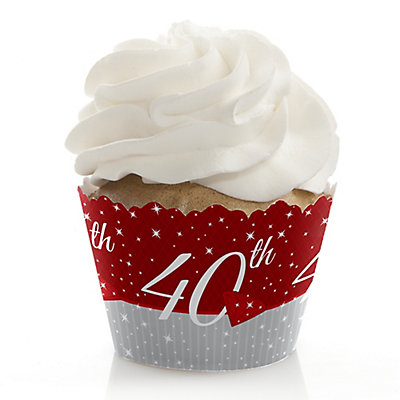40th Anniversary - Anniversary Cupcake Wrappers