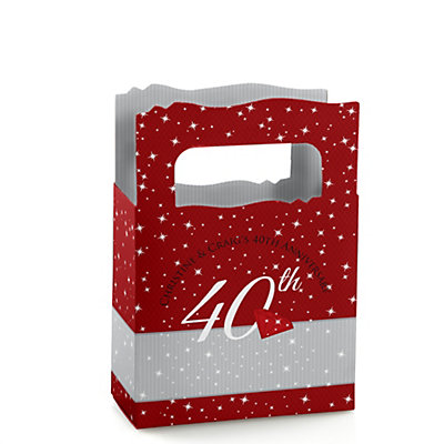 40th Anniversary - Mini Personalized Wedding Anniversary Favor Boxes