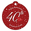 40th Anniversary - Round Personalized Anniversary Tags - 20 ct