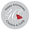 40th Anniversary - Personalized Wedding Anniversary Sticker Labels - 24 ct