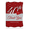 40th Anniversary - Personalized Wedding Anniversary Thank You Cards