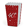 40th Anniversary - Personalized Anniversary Popcorn Favor Treat Boxes
