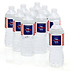 4th of July - Personalized Independence Day Water Bottle Sticker Labels - Set of 10