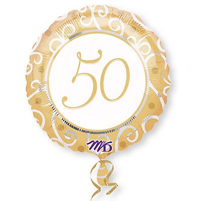 50th Anniversary - Anniversary Mylar Balloon