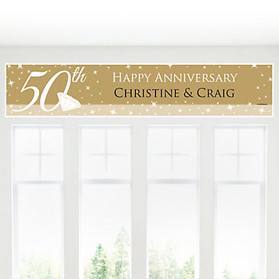50th Anniversary - Personalized Wedding Anniversary Banner...