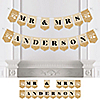 50th Anniversary - Personalized Anniversary Party Bunting Banner & Decorations