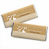 50th Anniversary - Personalized Wedding Anniversary Candy Bar Wrapper Favors