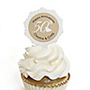 50th Anniversary - Personalized Wedding Anniversary Cupcake Pick and Sticker Kit -  12 ct