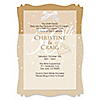 50th Anniversary - Personalized Wedding Anniversary Vellum Overlay Invitations