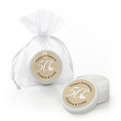 50th Anniversary - Personalized Wedding Anniversary Lip Balm...