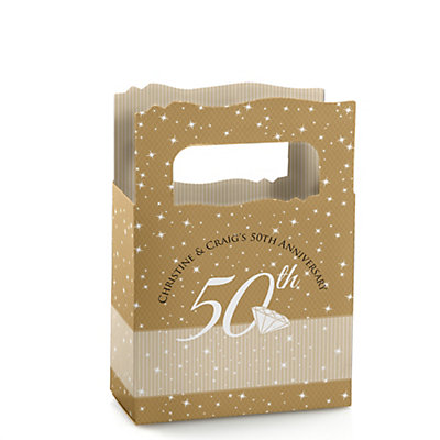 50th Anniversary - Mini Personalized Wedding Anniversary Favor Boxes