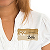 50th Anniversary - Personalized Wedding Anniversary Name Tag Stickers - 8 ct