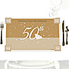 50th Anniversary - Personalized Wedding Anniversary Placemats