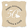 50th Anniversary  - Personalized Wedding Anniversary Tags - 20 ct