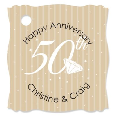 50th Wedding Anniversary Gift Tags : 50th AnniversaryPersonalized Wedding Anniversary Tags20 ct
