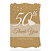 50th Anniversary - Personalized Wedding Anniversary Thank You Cards