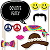60's Hippie - 20 Piece Photo Booth Props Kit