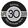 Adult 30th Birthday - Personalized Birthday Party Sticker Labels - 24 ct