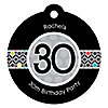 Adult 30th Birthday - Personalized Birthday Party Tags - 20 ct