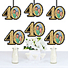 Adult 40th Birthday - Gold - Photo Decorations DIY Party Essentials - Set of 20