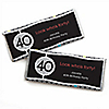 Adult 40th Birthday - Personalized Birthday Party Candy Bar Wrapper Favors