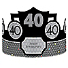 Adult 40th Birthday - Personalized Birthday Party Hats - 8 ct