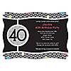 Adult 40th Birthday - Personalized Birthday Party Invitations