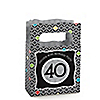 Adult 40th Birthday - Personalized Birthday Party Mini Favor Boxes