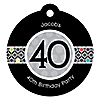 Adult 40th Birthday - Round Personalized Birthday Party Tags - 20 ct