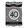 Adult 40th Birthday - Personalized Birthday Party Thank You Cards