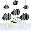 Adult 40th Birthday - Silver - Decorations DIY Party Essentials - Set of 20