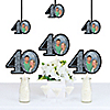 Adult 40th Birthday - Silver - Photo Decorations DIY Party Essentials - Set of 20
