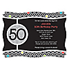 Adult 50th Birthday - Personalized Birthday Party Invitations