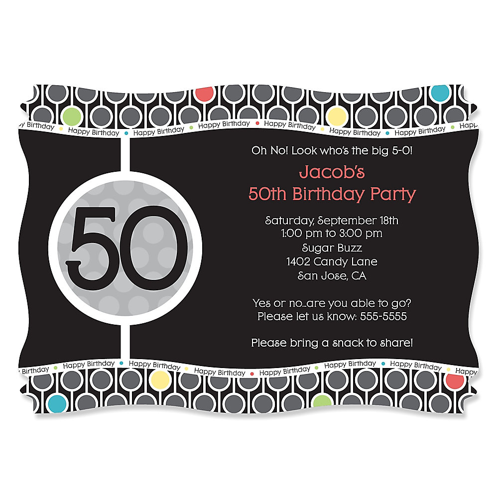 adult th birthday  personalized birthday party invitations, party invitations