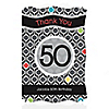 Adult 50th Birthday - Personalized Birthday Party Thank You Cards